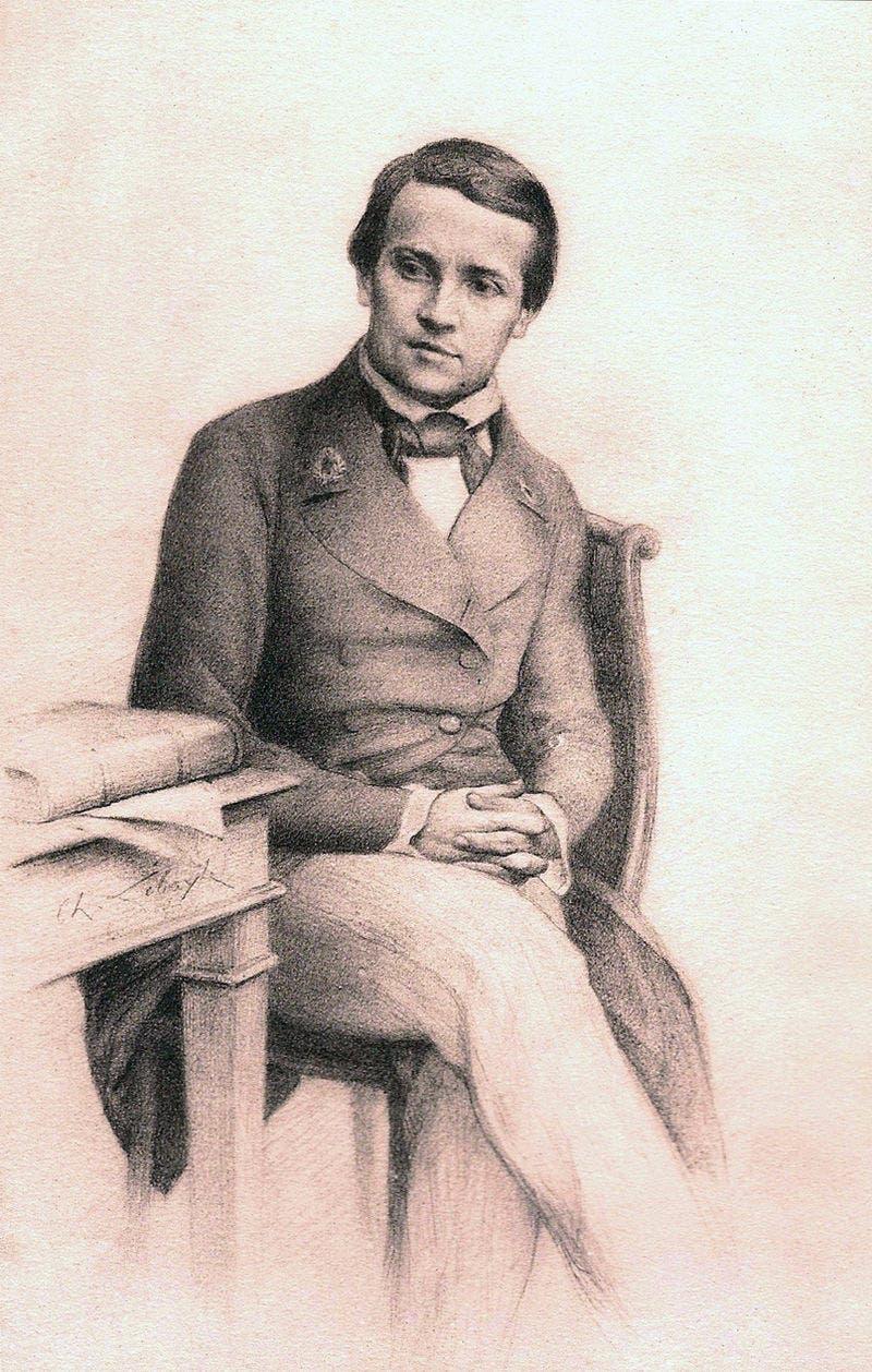 صورة تقريبية لشخصية باستور عام 1845