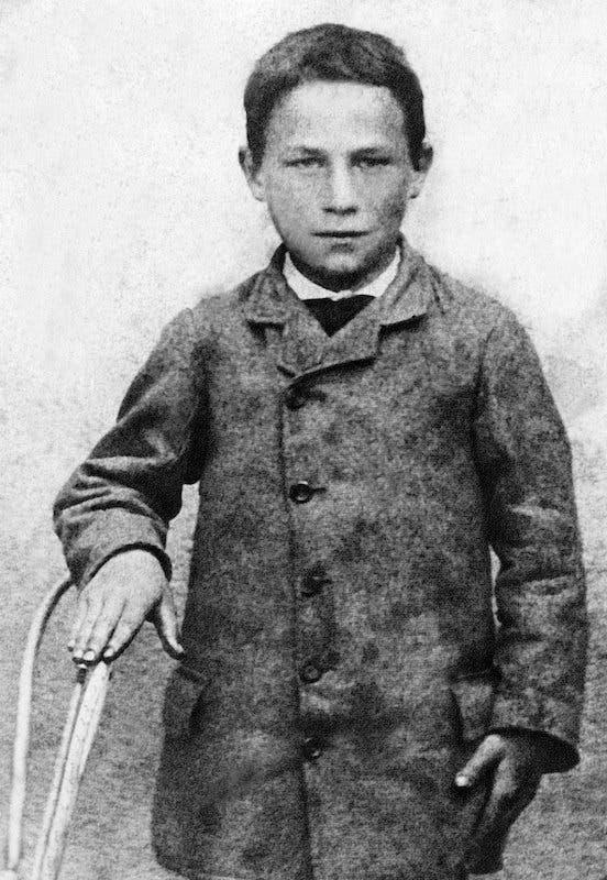 صورة للطفل جوزيف مايستر عام 1885