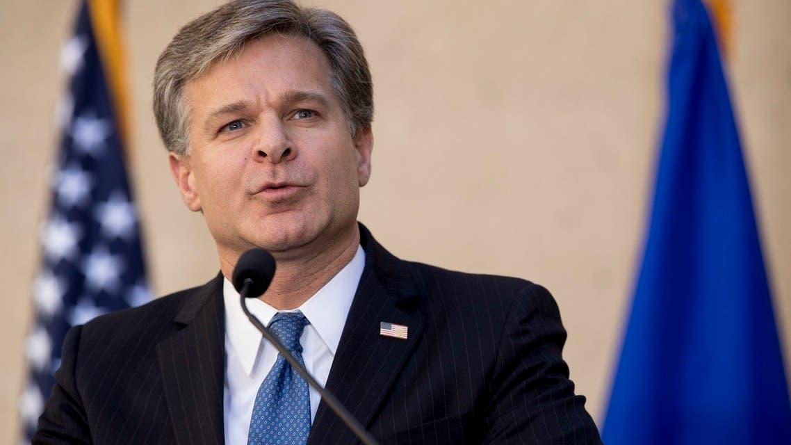 FBI chief Chris Wray. AP