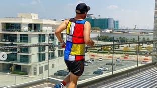 زوجان في دبي ينظمان سباق ماراتون على شرفة منزلهما