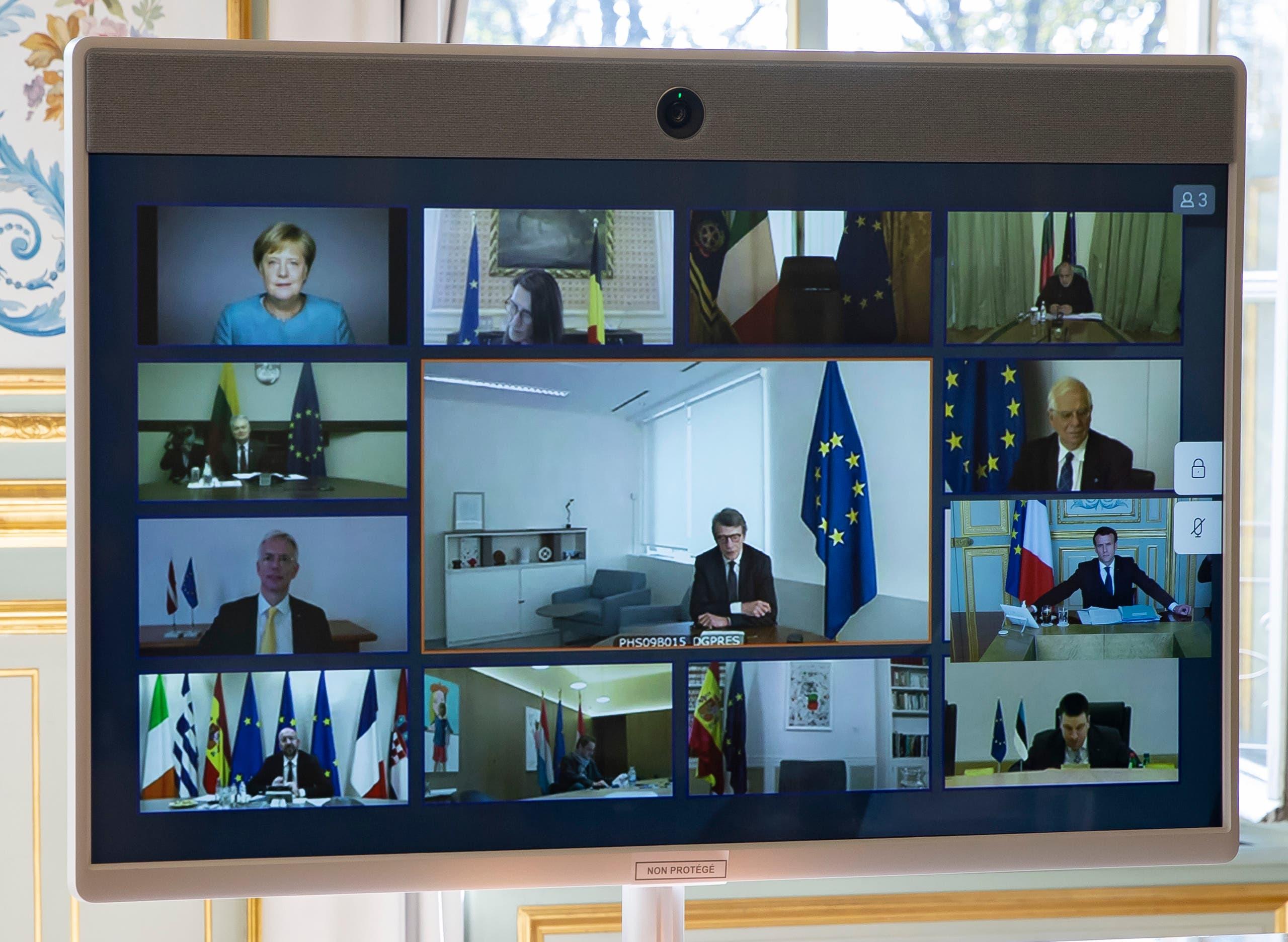 القادة الأوروبيون المشاركون في القمة الأوروبية