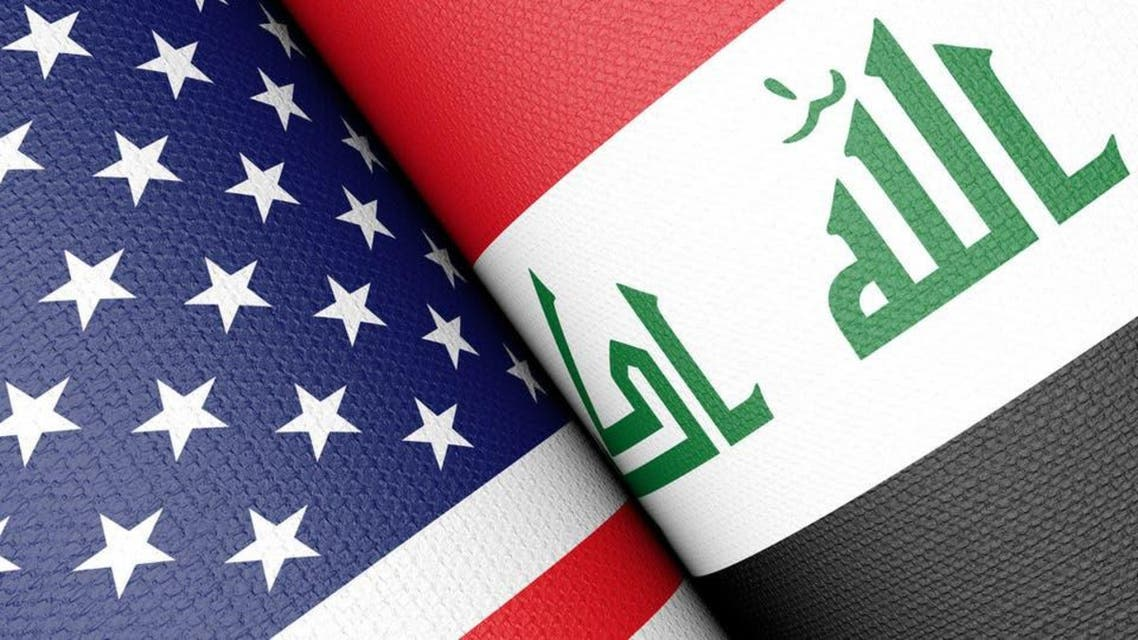 Iraq and USA flag