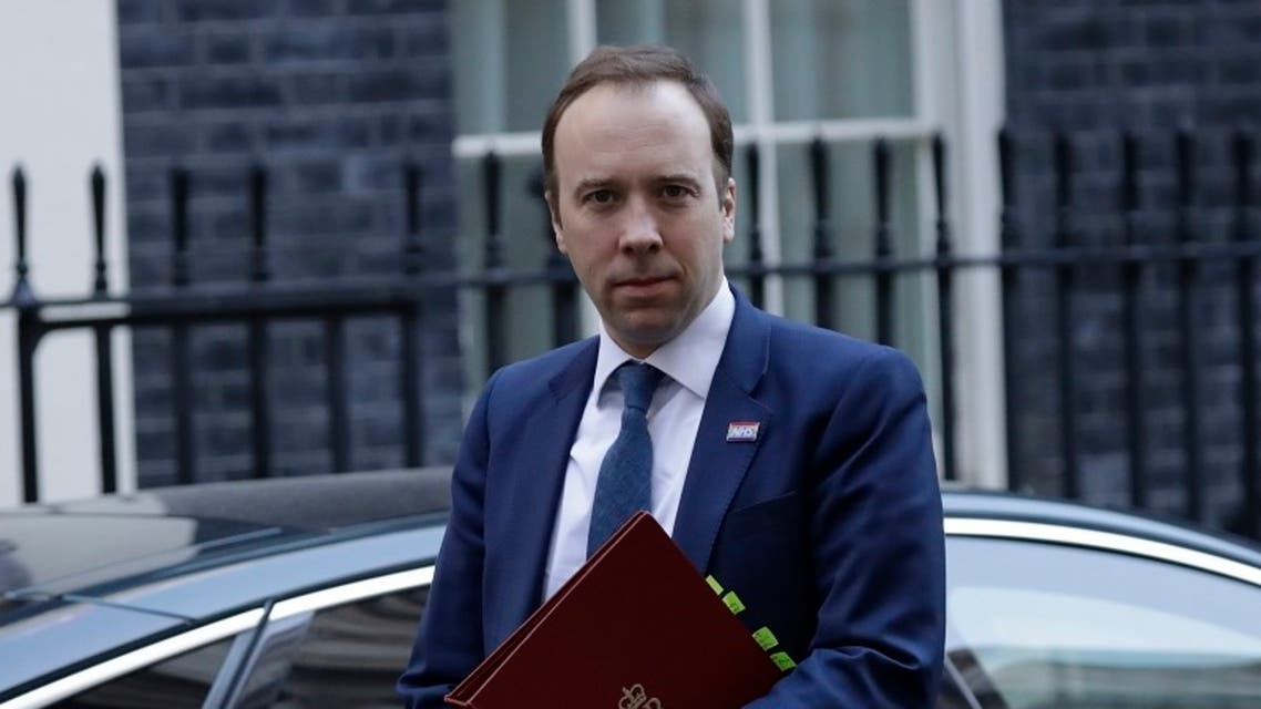 Matt Hancock, British Secretary of State for Health and Social Care. (AP)