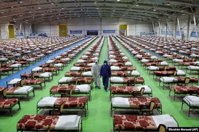مستشفى ميداني عسكري خصص لمرضى كورونا في طهران