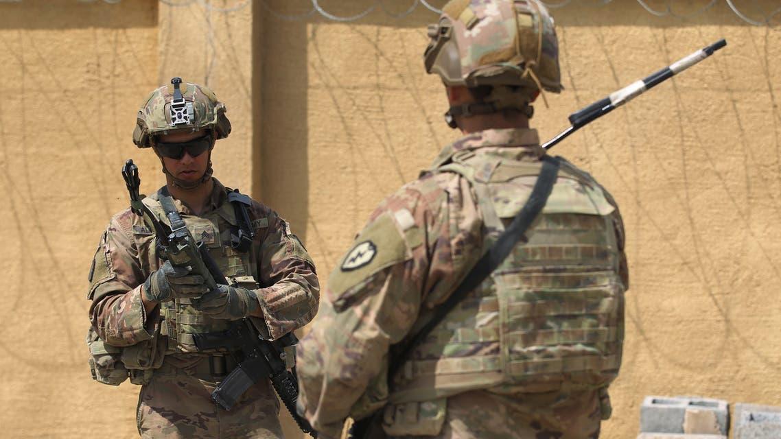 عناصر من قوات التحالف الدولي في قاعدة K1 يوم 29 مارس