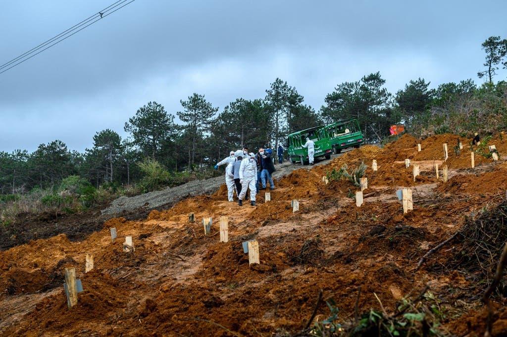 دفن وفيات كورونا في تركيا