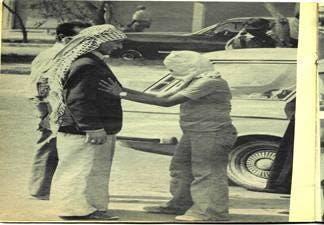 تفتیش شهروندان عرب توسط نیروهای نقابدار دولتی