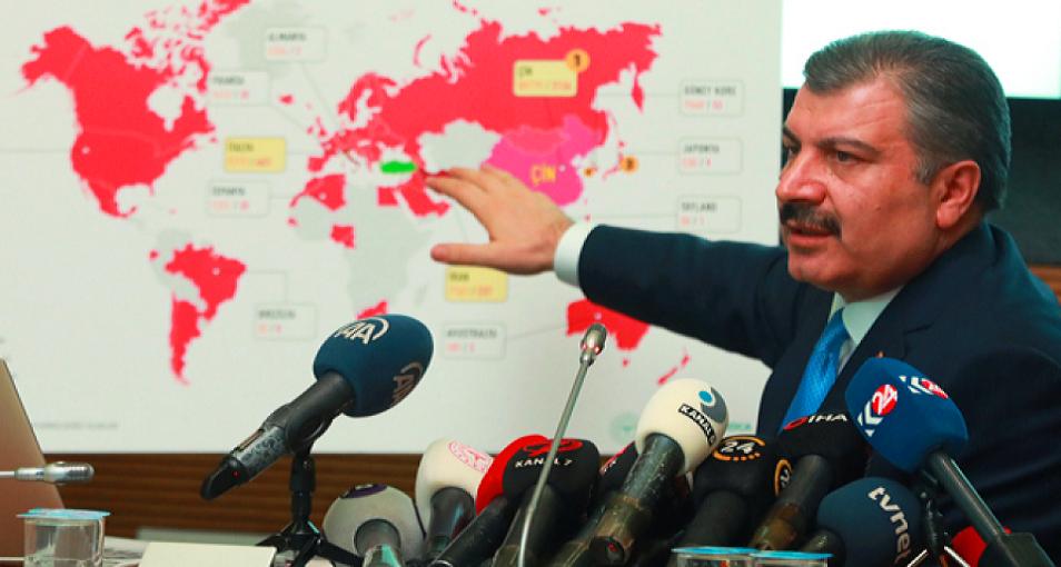 وزي الصحة التركي، فخر الدين كوجا، هو من ذكر السبت عدد المصابين والمتوفين