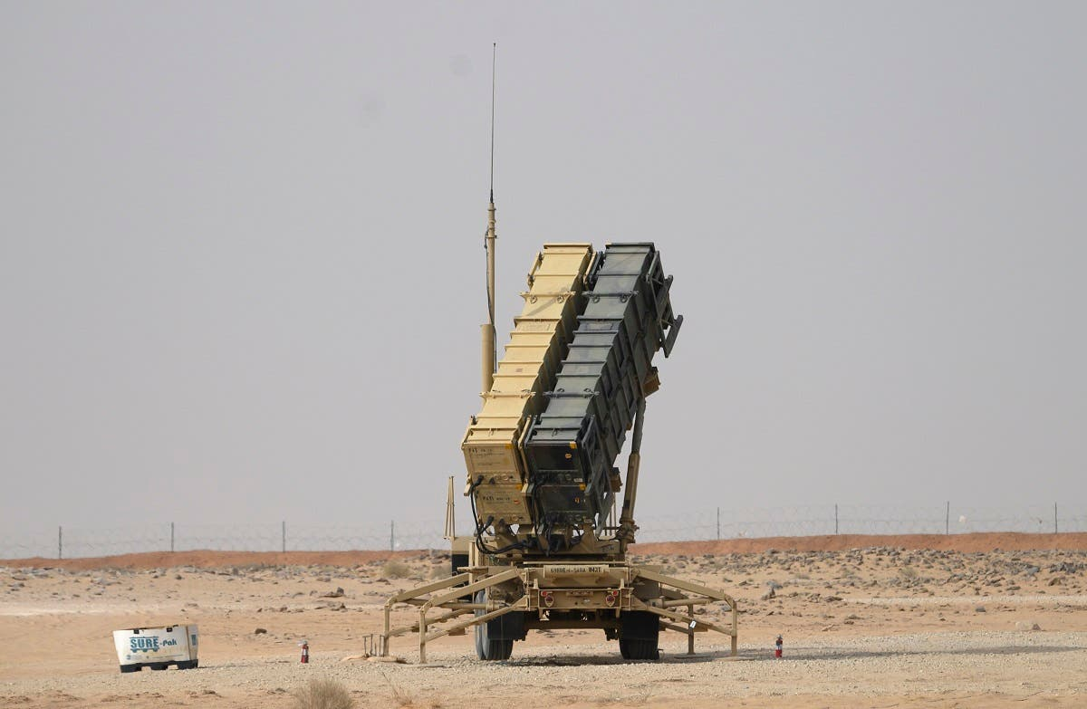 A Patriot missile battery is seen near Prince Sultan air base at al-Kharj on February 20, 2020. (File photo: AFP)