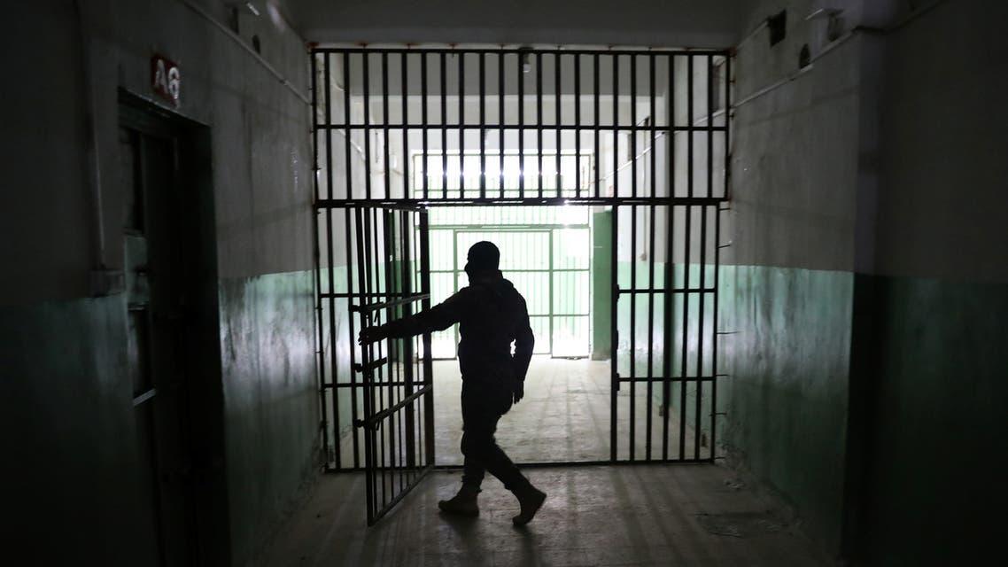من أحد السجون في الحسكة شمال شرق سوريا (أرشيفية- رويترز)