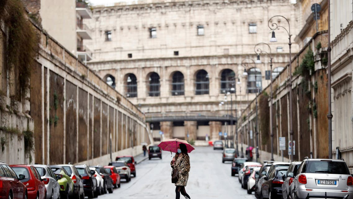 من أحد شوارع روما(فرانس برس)