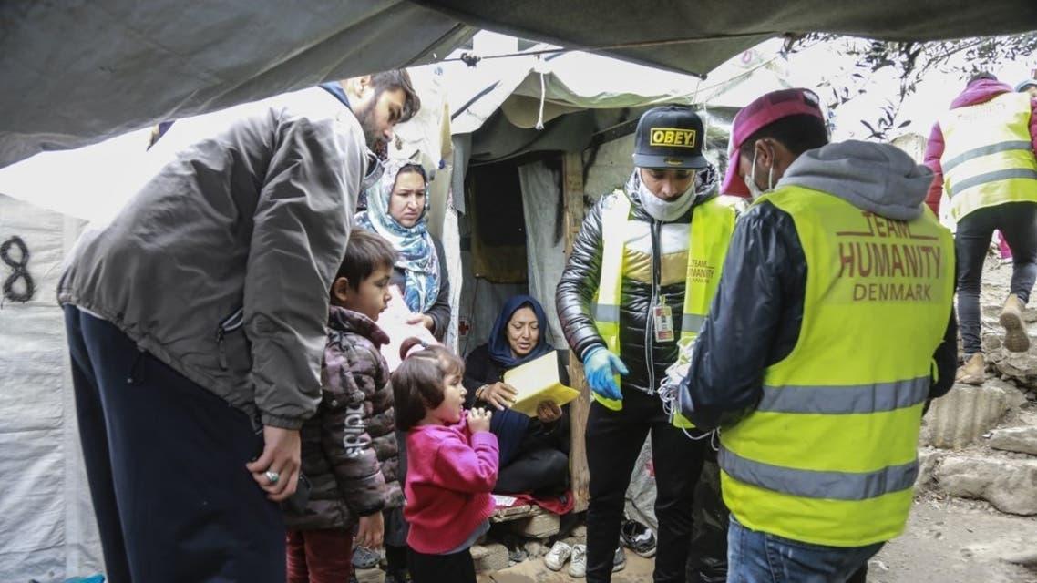 مخيم لاجئين في اليونان - فرانس برس