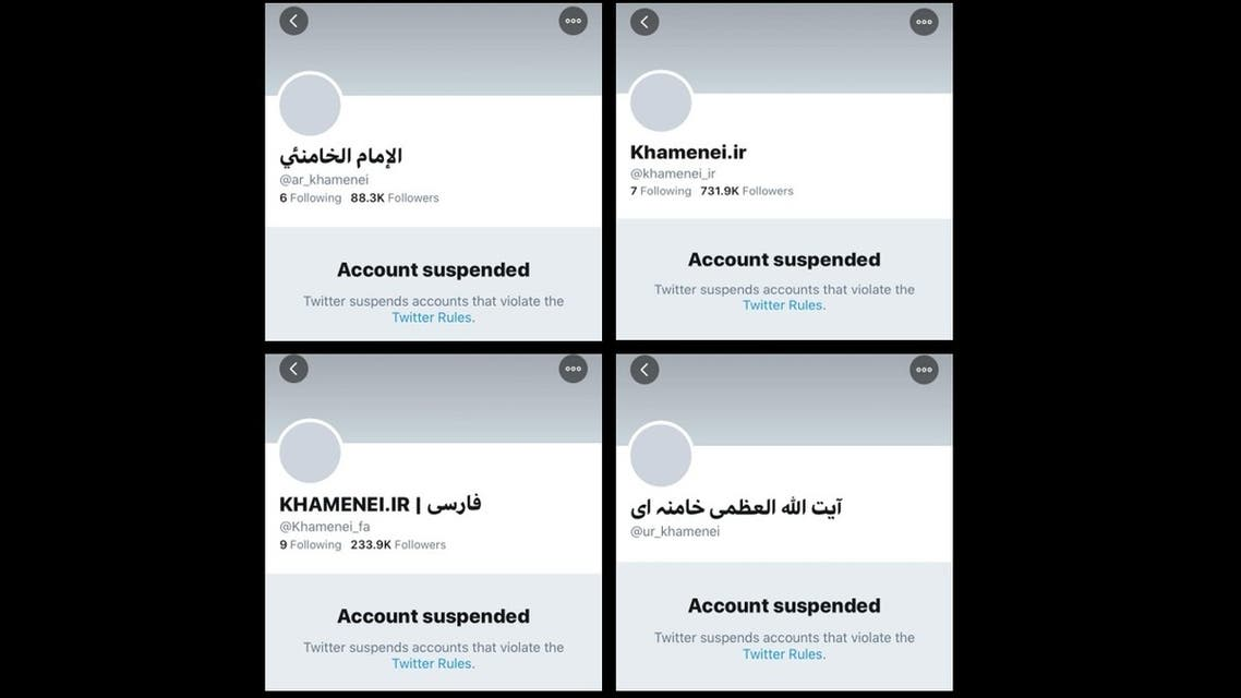 Twitter suspended the English, Arabic, Persian and Urdu accounts of Iranian Supreme Leader Ayatollah Ali Khamenei, and shortly after re-activated the accounts but with zero followers, March 31, 2020. (Twitter)
