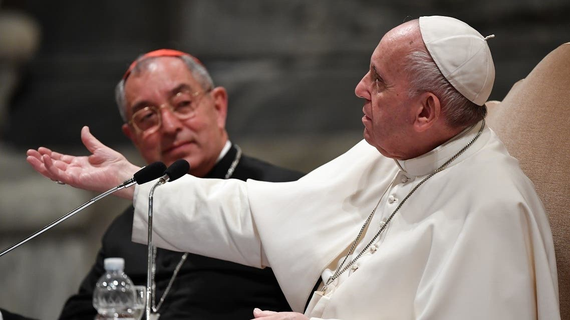 Pope Francis and Cardinal Angelo de Donatis