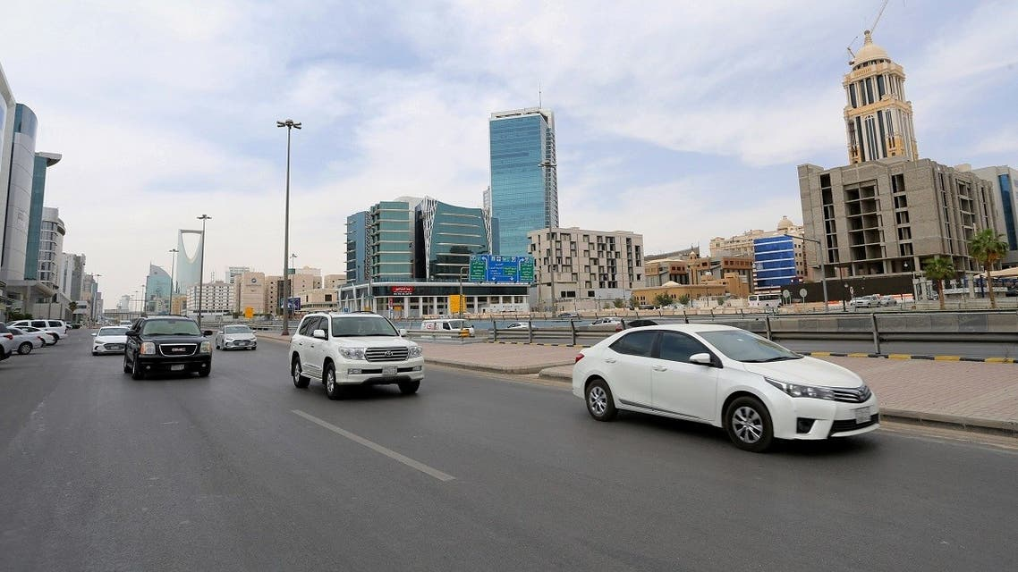 General view shows the cars on the street, after curfew lifted, which was imposed to prevent the spread of the coronavirus disease (COVID-19), in Riyadh. (Reuters)