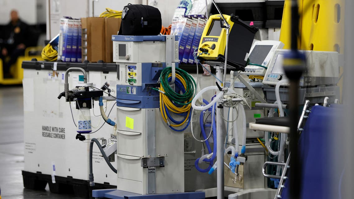 Medical equipment is seen inside the Jacob K. Javits Convention Center after New York Governor Andrew Cuomo announced that the site will be partially converted into a hospital for patients affected by the coronavirus disease (COVID-19) in Manhattan in New York City, New York, U.S., March 23, 2020. REUTERS/Mike Segar