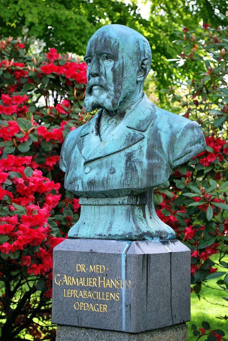 تمثال نصفي للعالم غيرهارد أرماور هانسن