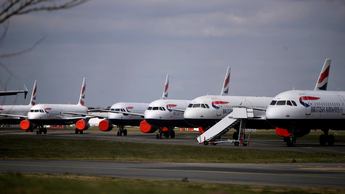 British Airways planes are parked at Bournemouth Airport during the coronavirus pandemic. (File photo: Reuters)