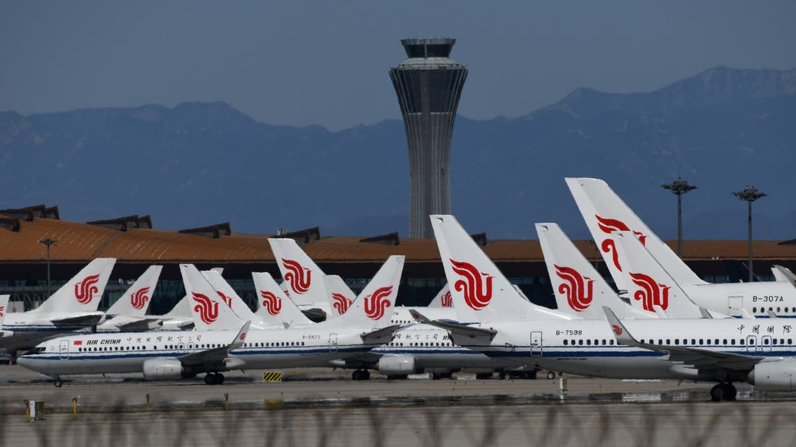 Air China planes seen parked on the tarmac at Beijing Capital Airport, China, during the coronavirus pandemic. (File photo: AFP)