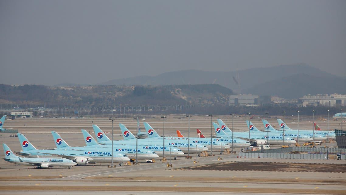 Korean Air's planes sit on tarmac at Incheon International Airport, Incheon, South Korea. (File photo: Reuters)