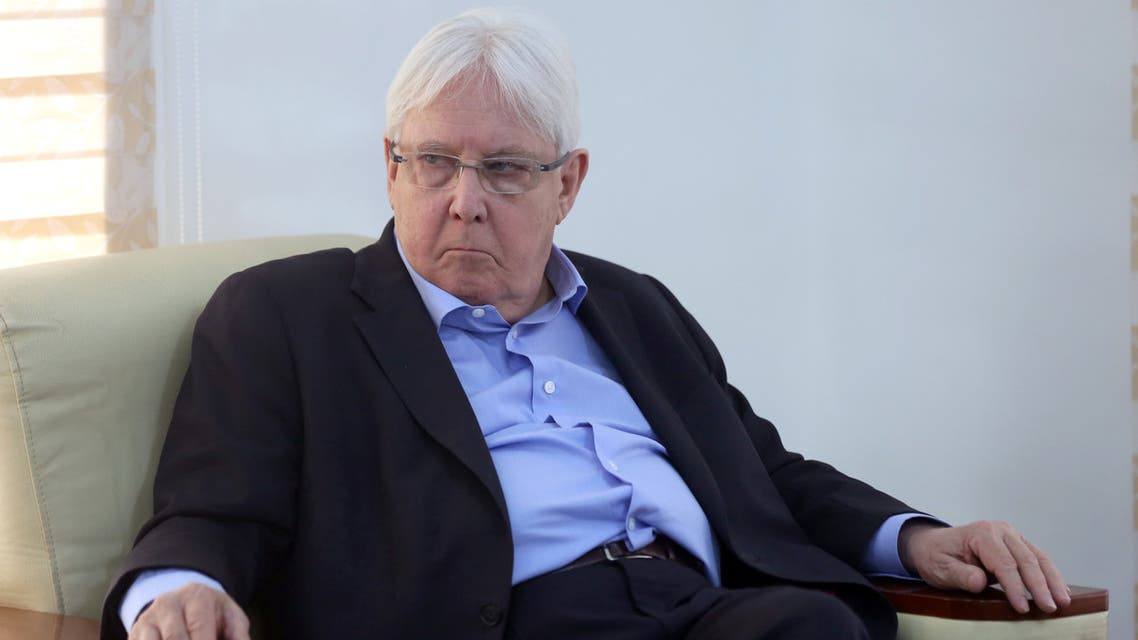 United Nations Special Envoy to Yemen Martin Griffiths, looks on during his visit, in Marib, Yemen March 7, 2020. REUTERS/Ali Owidha