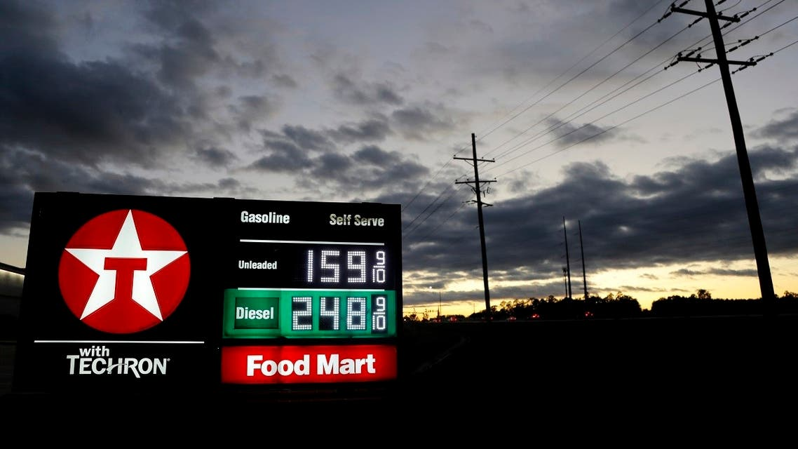 Prices are seen on the marquee of a gas station, Tuesday, March 31, 2020, in Brandon, Miss. (File photo: AP)