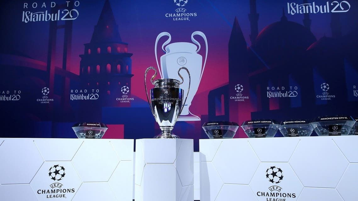Champions League - Round of 16 draw - Nyon, Switzerland - December 16, 2019 General view of the trophy before the draw REUTERS/Denis Balibouse/File Photo