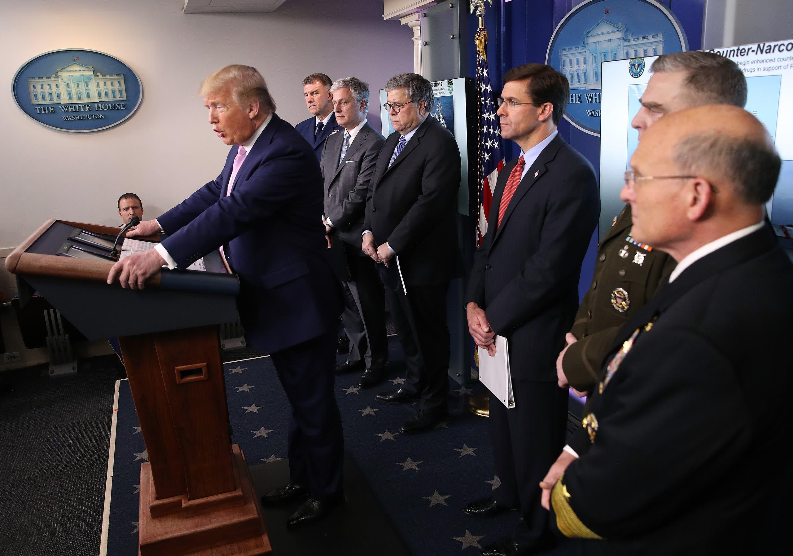 المؤتمر الصحفي لخلية الأزمة الأميركية لمواجهة كورونا