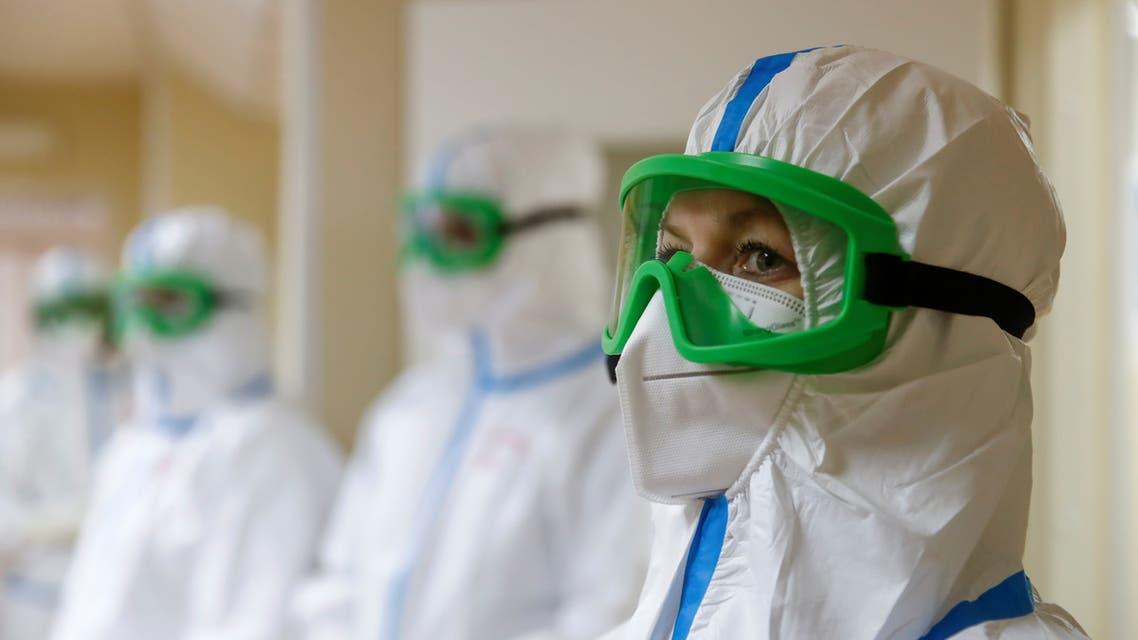 طاقم طبي بمستشفى في موسكو