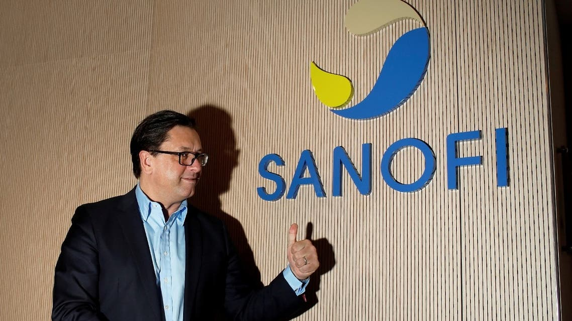 Paul Hudson, chief executive officer of Sanofi, poses during the annual results news conference in Paris, France, February 6, 2020. (Reuters)