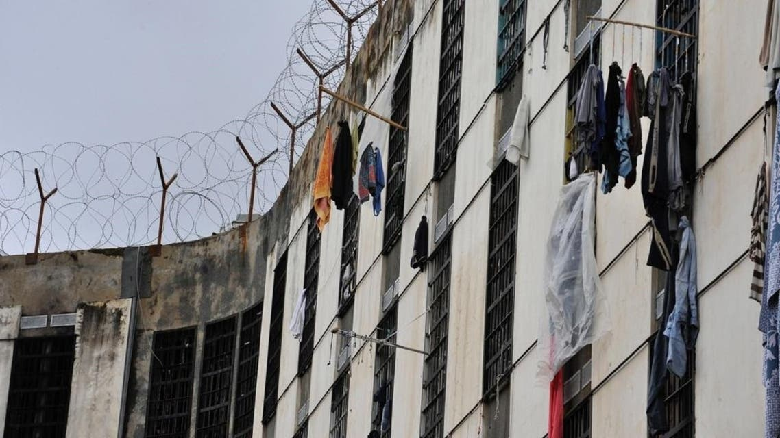 Inmates at Lebanon's Roumieh prison hang their laundry from cell windows. (Photo courtesy: Abbass Salman)