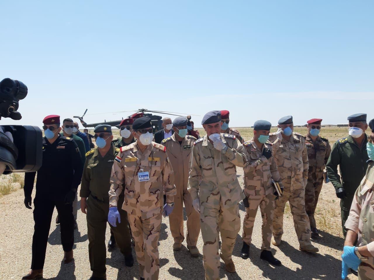 من قاعدة الحبانية (صورة من وكالة الأنباء العراقية)