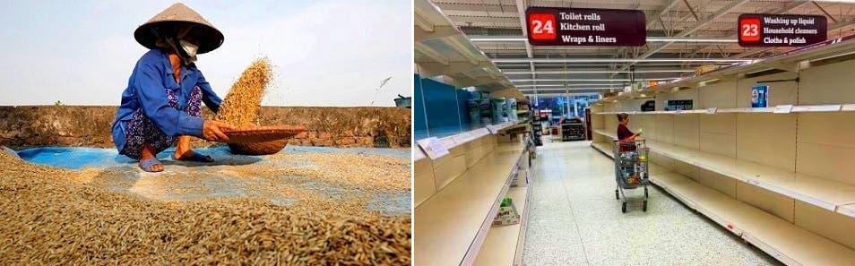 الرفوف بدأت تخلو من بضائعها، وثالث دولة تصديراً للأرزّ بالعالم توقفت عن بيعه