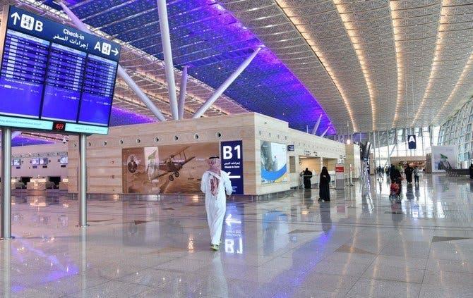حركة السفر في أحد المطارات السعودية