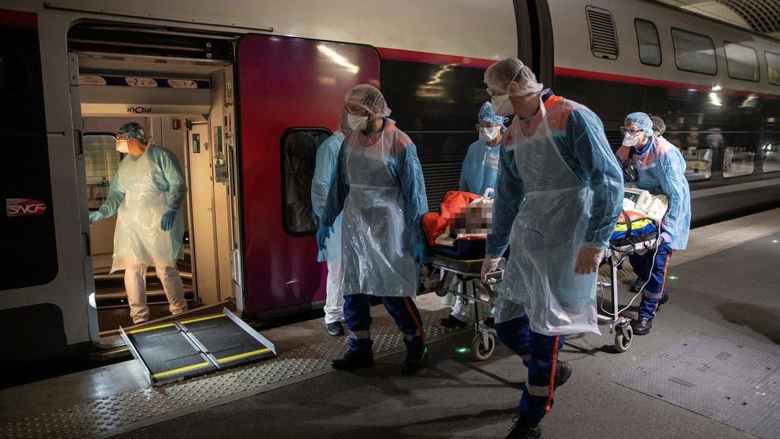 نقل مصابين بكورونا بالقطار فائق السرعة