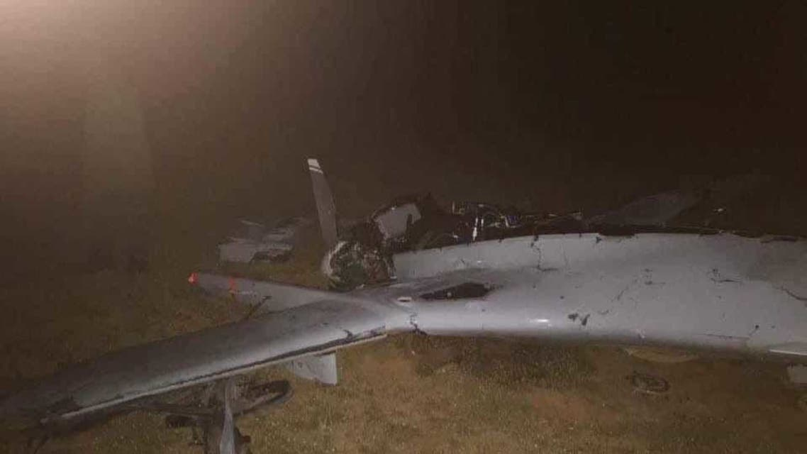 طائرة مسيرة تركية أسقطها الجيش الليبي