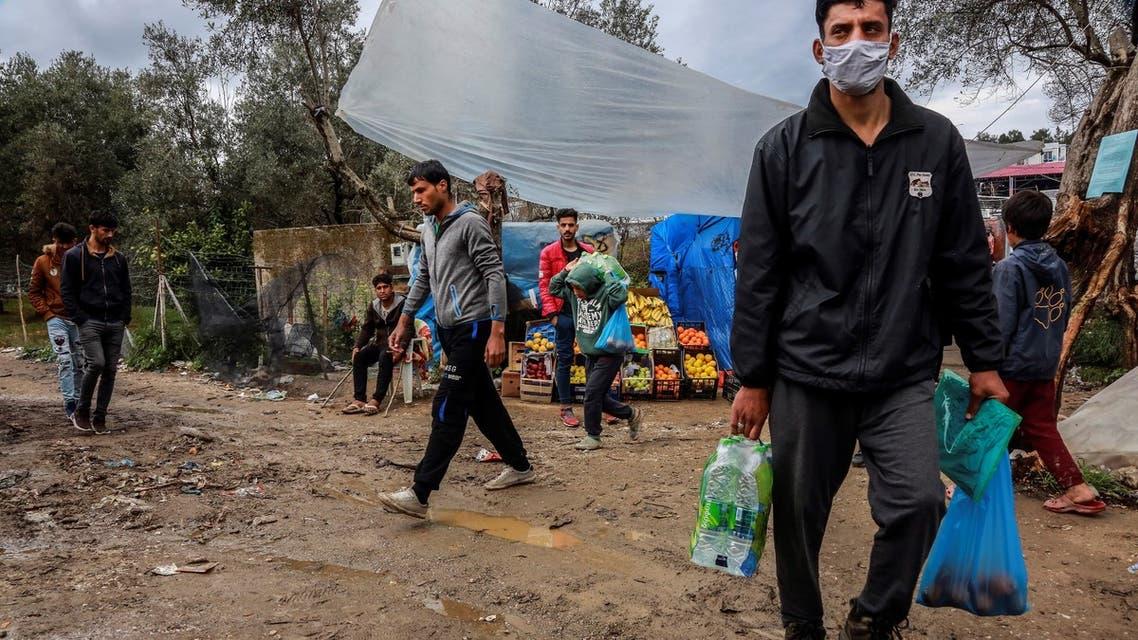 1 اليونان مخيمات كورونا
