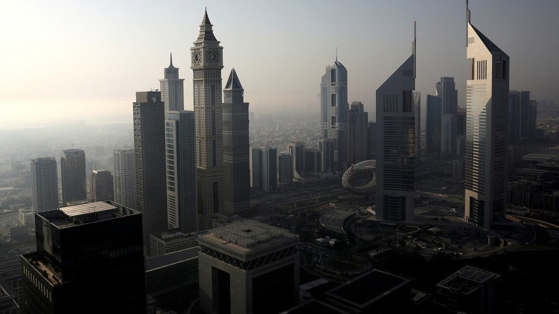 A general view of Dubai International Financial Centre (DIFC) among high-rise towers in Dubai. (Reuters)