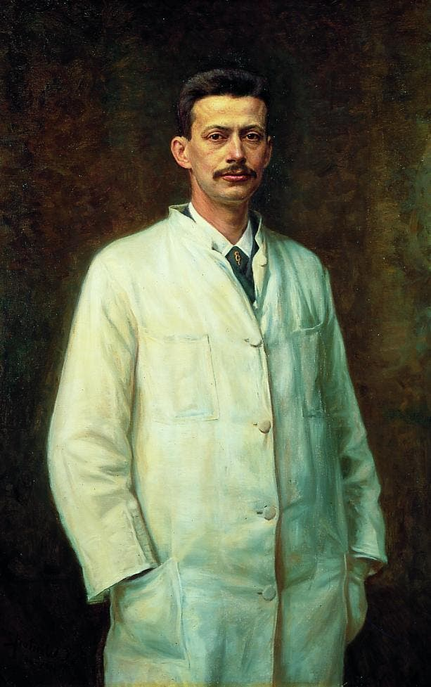 لوحة زيتية تجسد الطبيب نيلس فينسن