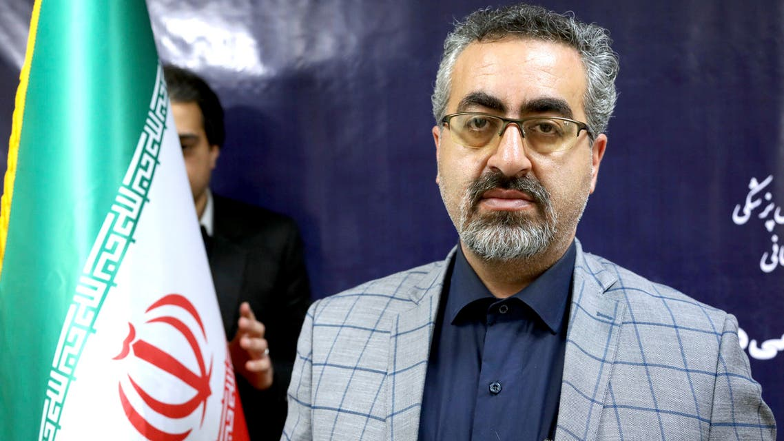 Spokesman for Iran's Health Ministry Kianoush Jahanpour poses for a photo before an interview in Tehran, Iran, Tuesday, Feb. 25, 2020. (AP)
