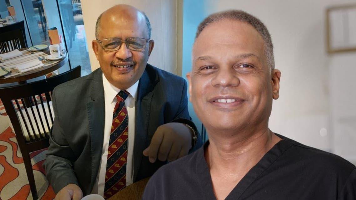 الطبيبان البريطانيان السودانيان دكتور أمجد الحوراني ودكتور عادل الطيار