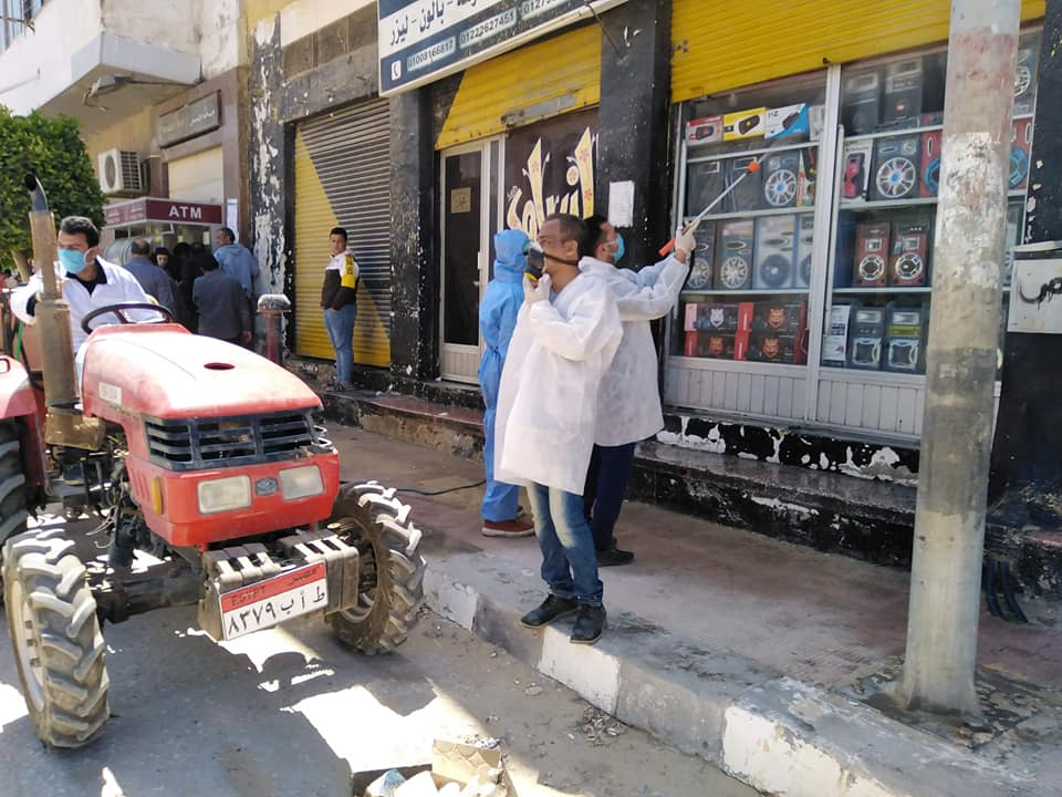 تعقيم كامل لشوارع شمال سيناء