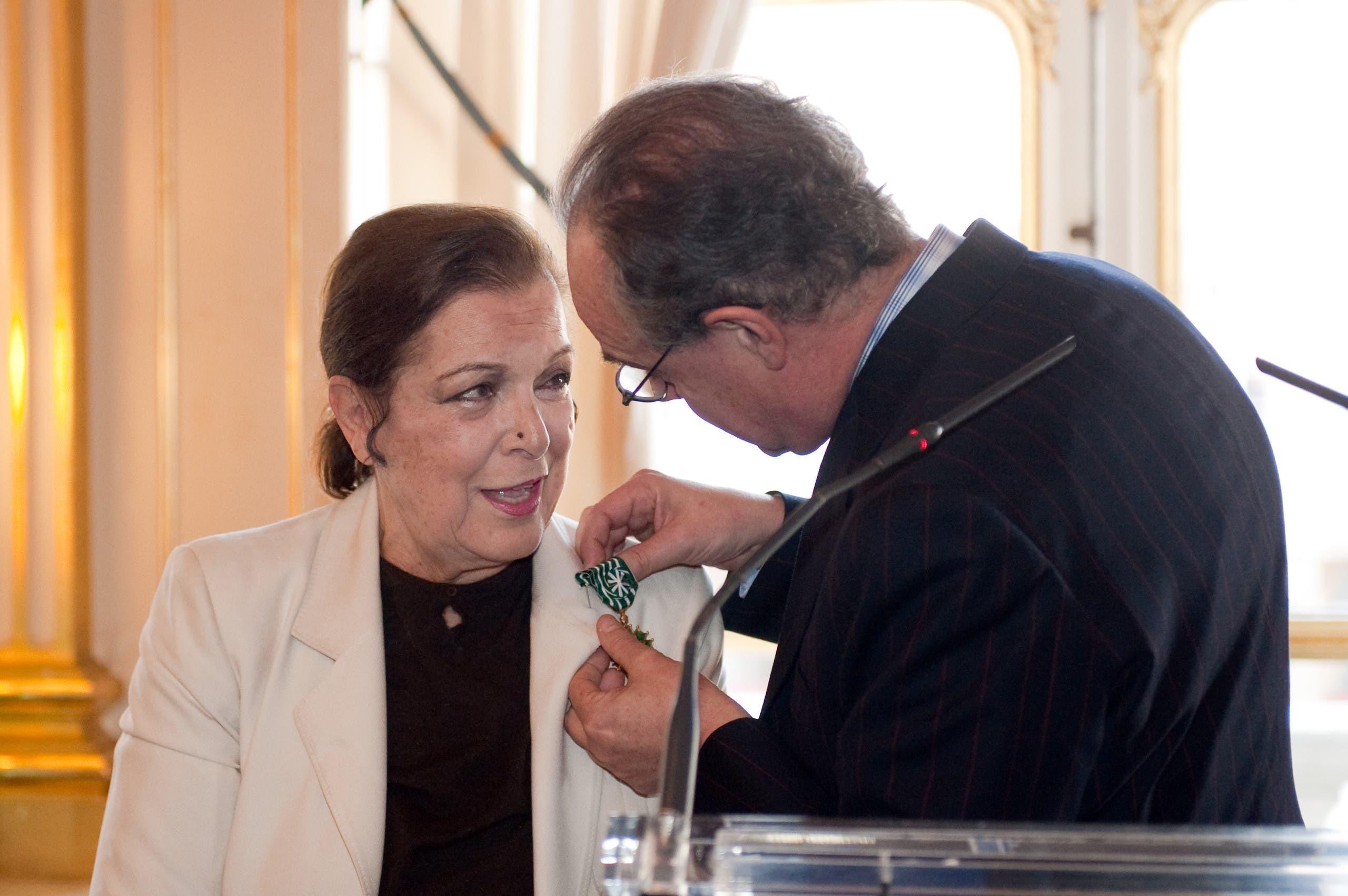 خلال تكريمها عام 2009 (فرانس برس)