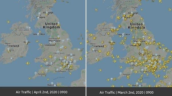 سماوات بلا طائرات ومطارات خالية من المسافرين.. إنه كورونا!