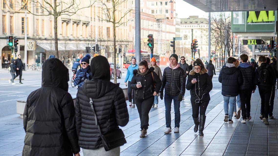 الركة ممستمرة في ستوكهولم حيث لم تغلق الأسواق والكمطاعم