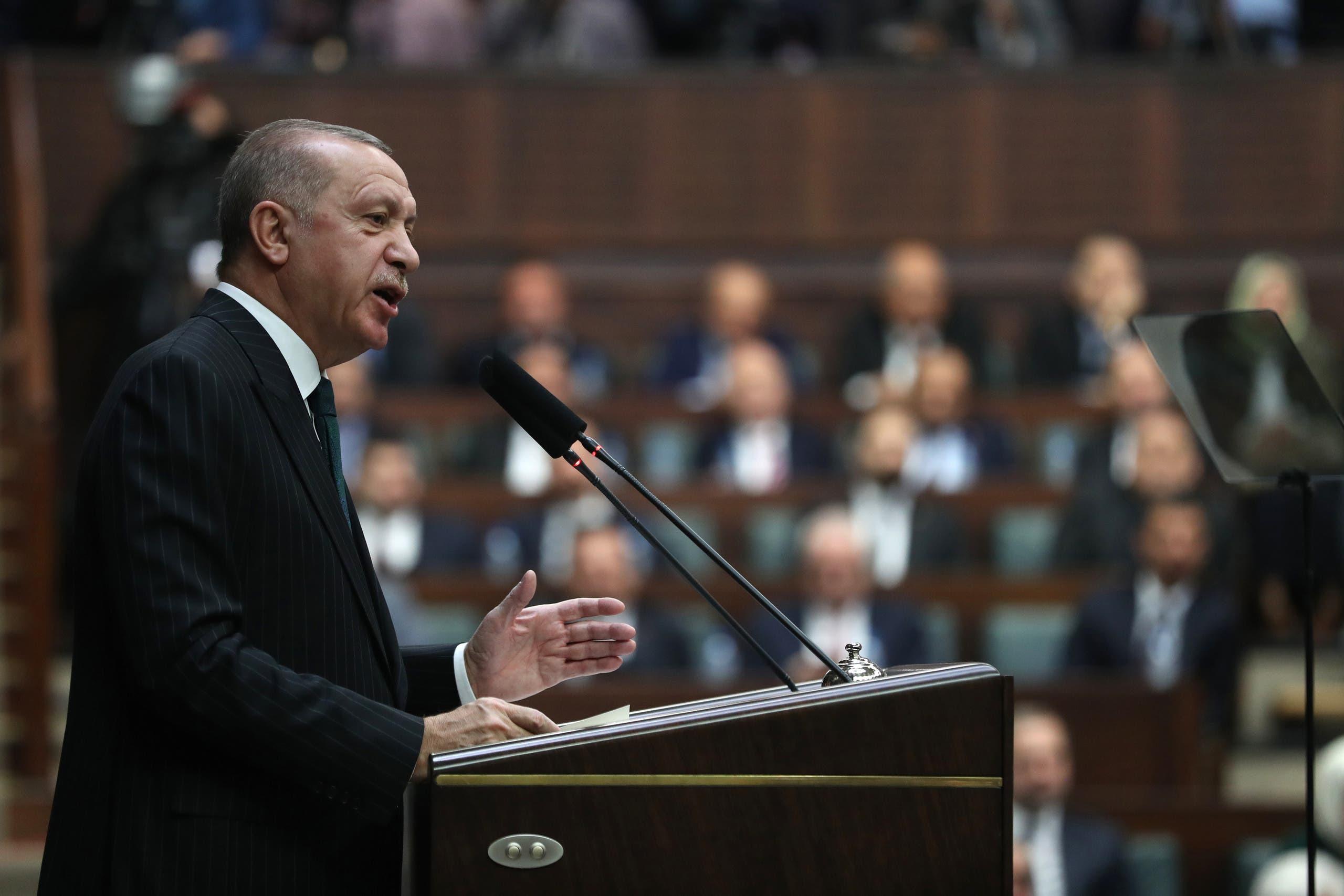 أردوغان في البرلمان التركي