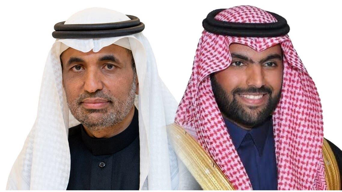 وزير الثقافة السعودي الأمير بدر بن عبدالله بن فرحان وجاسر الحربش