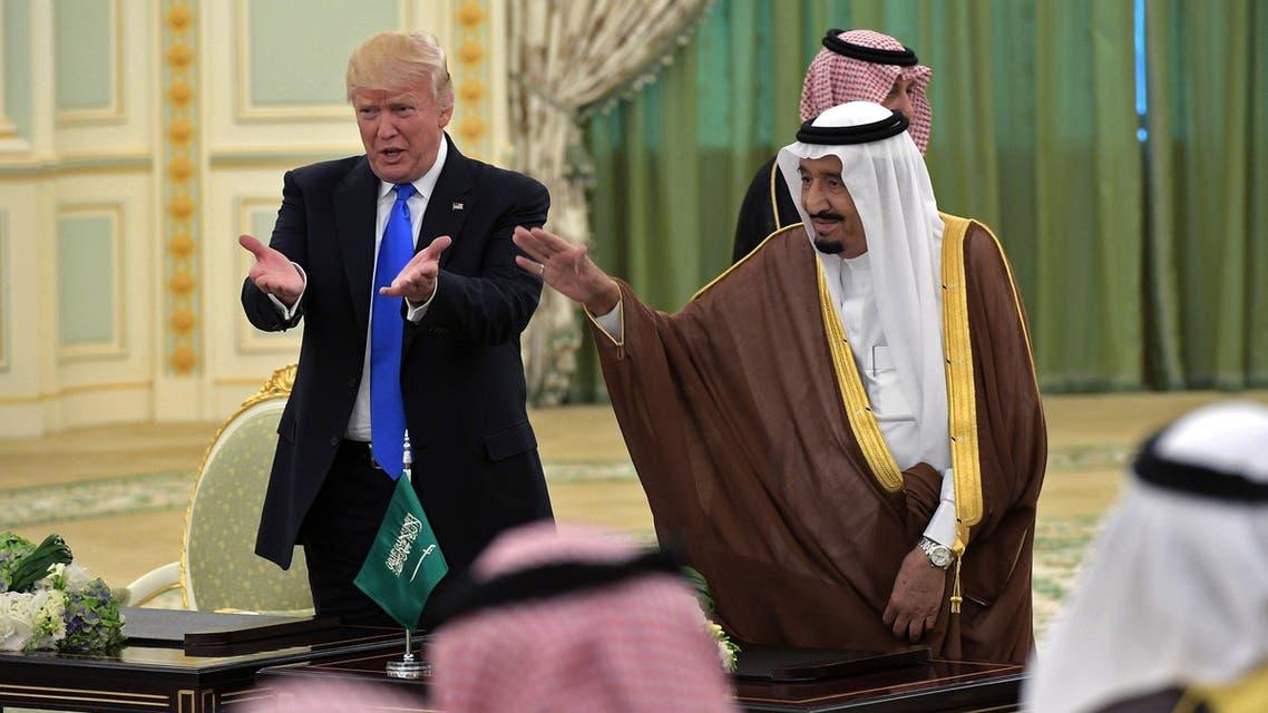 الملك سلمان والرئيس الأميركي دونالد ترمب(أرشيفية- فرانس برس)