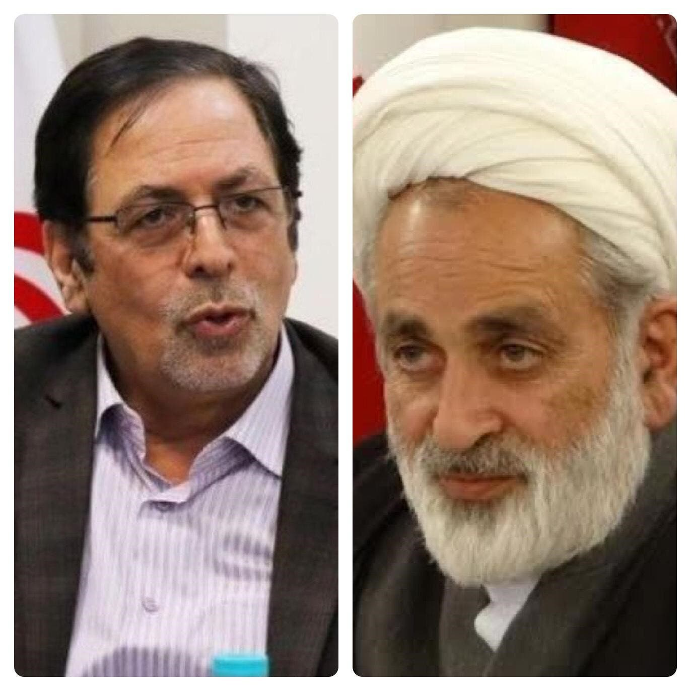 Iranian lawmakers Heidarali Abedi, left, and Ahmad Salek, right. (Twitter)
