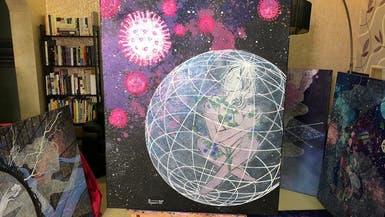 فنانة سعودية تحارب فيروس كورونا بريشتها